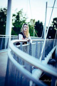Shooting mit Anni an der Hamelner Weserpromenade