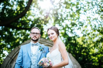 Mit dem Brautpaar zum Fotoshooting am Lessinghaus Wolfenbüttel