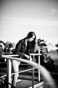 Am Hafen in Braunschweig zum Fotoshooting
