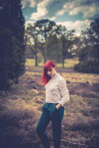 Mit Tanja in der Lüneburger Heide zum Fotoshooting